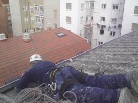 Reparación de canalones en la Bañeza